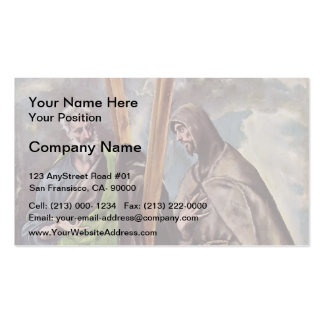 El Greco- St. Andrew and St. Francis Business Card Template