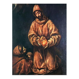 El Greco- St. Francis and Brother Rufus Postcard