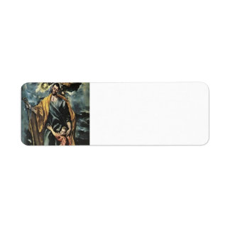 El Greco- St. Joseph and the Christ Child Label