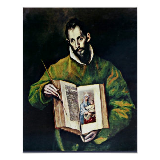 El Greco - St Luke as painter Poster