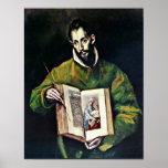 El Greco - St Luke como pintor Poster