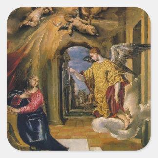 El Greco- The Annunciation Square Sticker