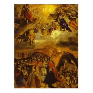 El Greco- The Dream of Philip II Post Cards