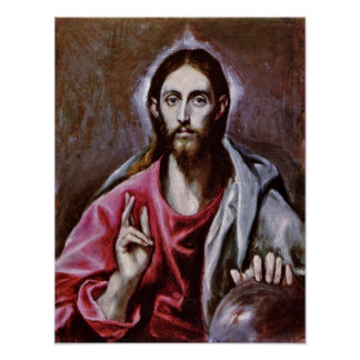 El Greco - The Saviour of the world Poster