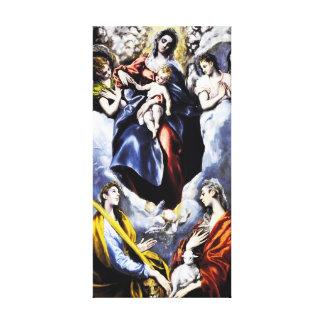 El Greco The Virgin and Child Canvas Wrap