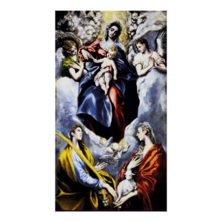 El Greco The Virgin and Child Poster