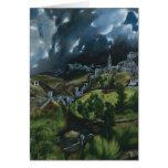 El Greco View of Toledo Greeting Card