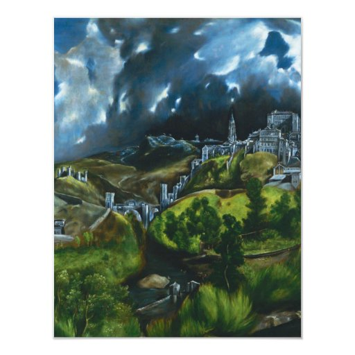 "El Greco View of Toledo Invitations 4.25"" X 5.5"" Invitation Card"