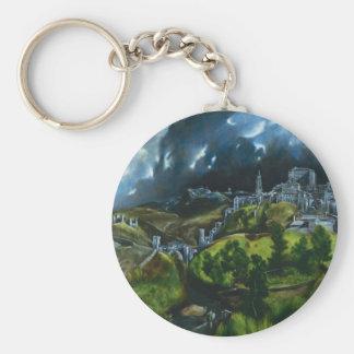 El Greco View of Toledo Key Chain