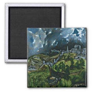 El Greco - View of Toledo Refrigerator Magnet