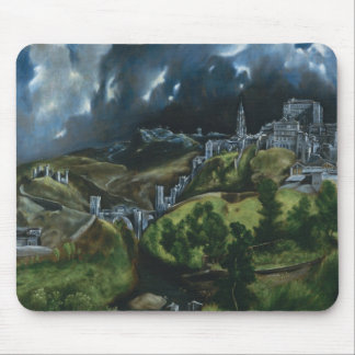 El Greco View of Toledo Mouse Pads
