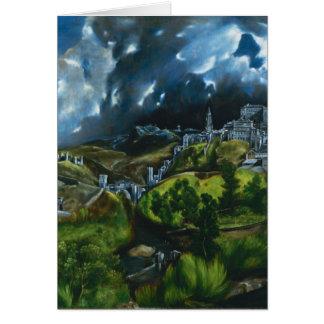 El Greco View of Toledo Note Card