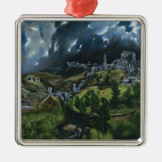 El Greco View of Toledo Christmas Tree Ornament