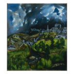 El Greco View of Toledo Poster