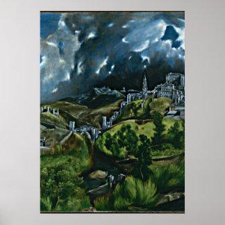El Greco - View of Toledo Poster