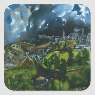 El Greco View of Toledo Stickers