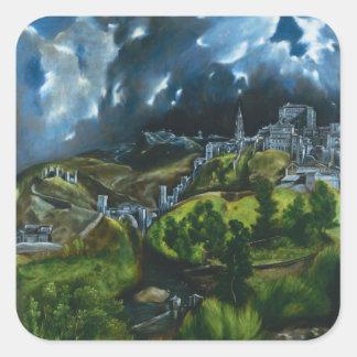 El Greco View of Toledo Stickers