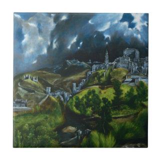El Greco View of Toledo Tile