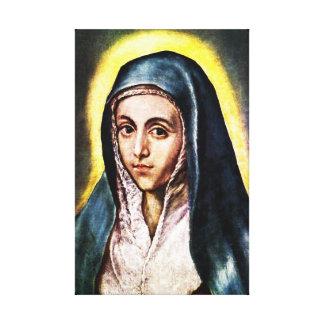 El Greco Virgin Mary Canvas Wrap