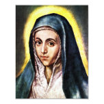 "El Greco Virgin Mary Invitations 4.25"" X 5.5"" Invitation Card"
