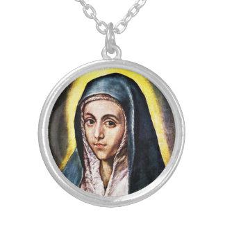 El Greco Virgin Mary Necklace