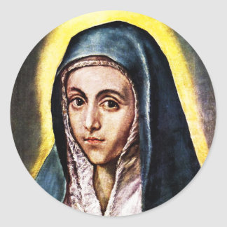 El Greco Virgin Mary Round Sticker