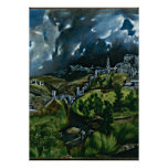 El Greco - vista de Toledo Póster
