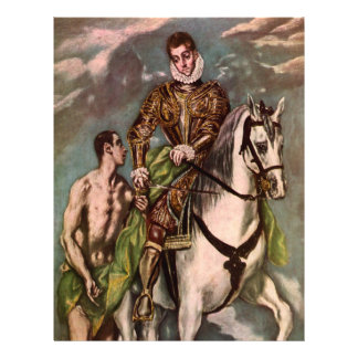 El Greco's Saint Martin and the Beggar, circa 1600 Personalized Flyer