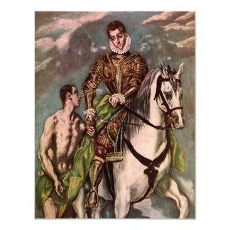 El Greco's Saint Martin and the Beggar, circa 1600 Custom Invite