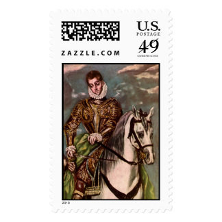 El Greco's Saint Martin and the Beggar, circa 1600 Stamps