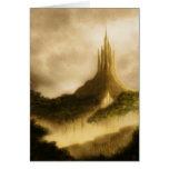 el greetingcard del arte de la fantasía del reino  tarjeton
