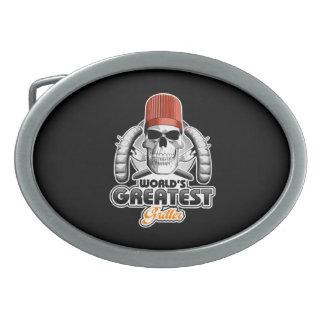 El Griller más grande v1 del mundo Hebillas De Cinturón Ovales