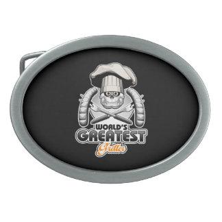 El Griller más grande v2 del mundo Hebilla Cinturón Oval