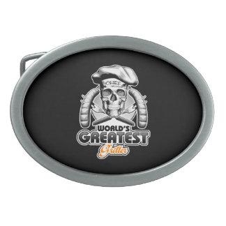 El Griller más grande v5 del mundo Hebillas De Cinturón Ovales