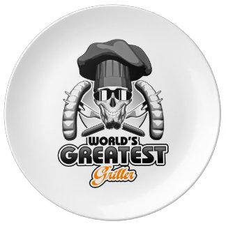El Griller más grande v7 del mundo Platos De Cerámica