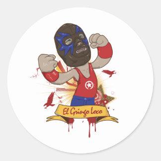 El Gringo Loco Classic Round Sticker