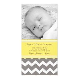 El gris amarillo le agradece las tarjetas de la tarjeta fotográfica personalizada
