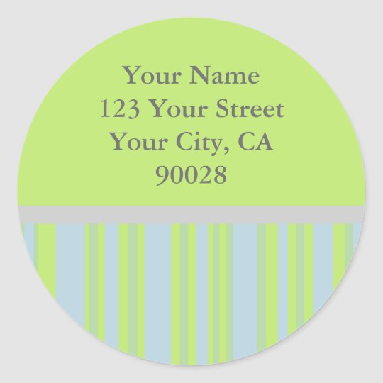 el gris amarillo raya etiquetas de dirección pegatina redonda