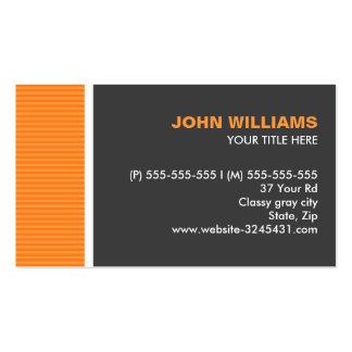 El gris anaranjado moderno raya perfil profesional tarjetas de visita