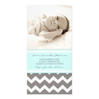 El gris azul le agradece las tarjetas de la foto d tarjetas con fotos personalizadas