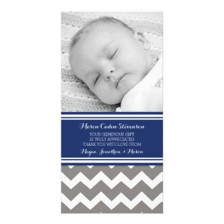 El gris azul le agradece las tarjetas de la foto tarjetas fotograficas personalizadas