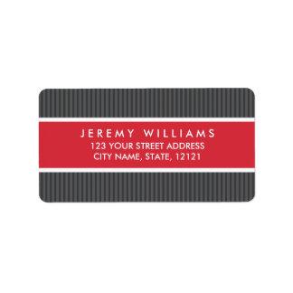 El gris con clase raya el remite del panel rojo etiquetas de dirección