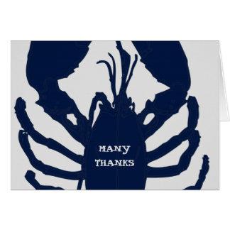 El gris de azules marinos le agradece las tarjetas