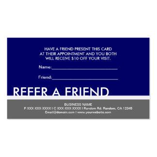 El gris de azules marinos simple refiere tarjetas tarjetas de visita
