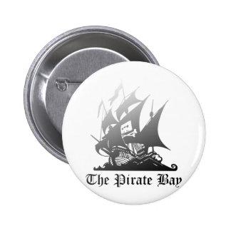 El gris de la bahía del pirata al negro pin redondo 5 cm