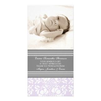El gris de la lila le agradece las tarjetas de la  tarjeta fotográfica