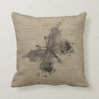 El gris de moda lindo fresco salpica la mariposa d almohada