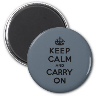 El gris de pizarra guarda calma y continúa (el neg imán redondo 5 cm