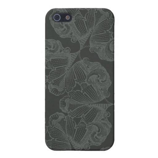 El gris del estaño florece la caja elegante del ip iPhone 5 carcasa