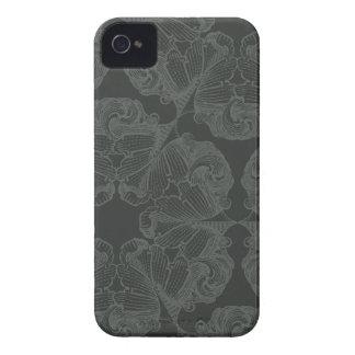 El gris del estaño florece la caja intrépida de la iPhone 4 Case-Mate cárcasas